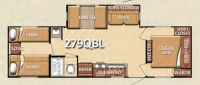2011 Conquest 279QBL Floor Plan