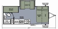 2016 Apex Nano 193BHS Floor Plan