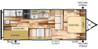 2018 Wildwood 261BHXL Floor Plan