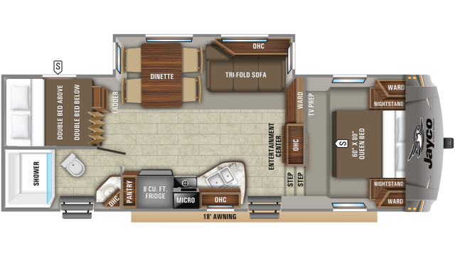 2019 Eagle HTX 26BHX Floor Plan