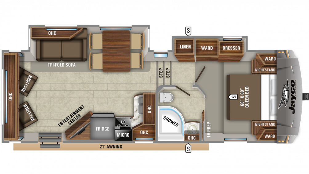 2019 Eagle HTX 26RLX Floor Plan Img