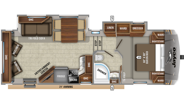 2019 Eagle HTX 26RLX Floor Plan