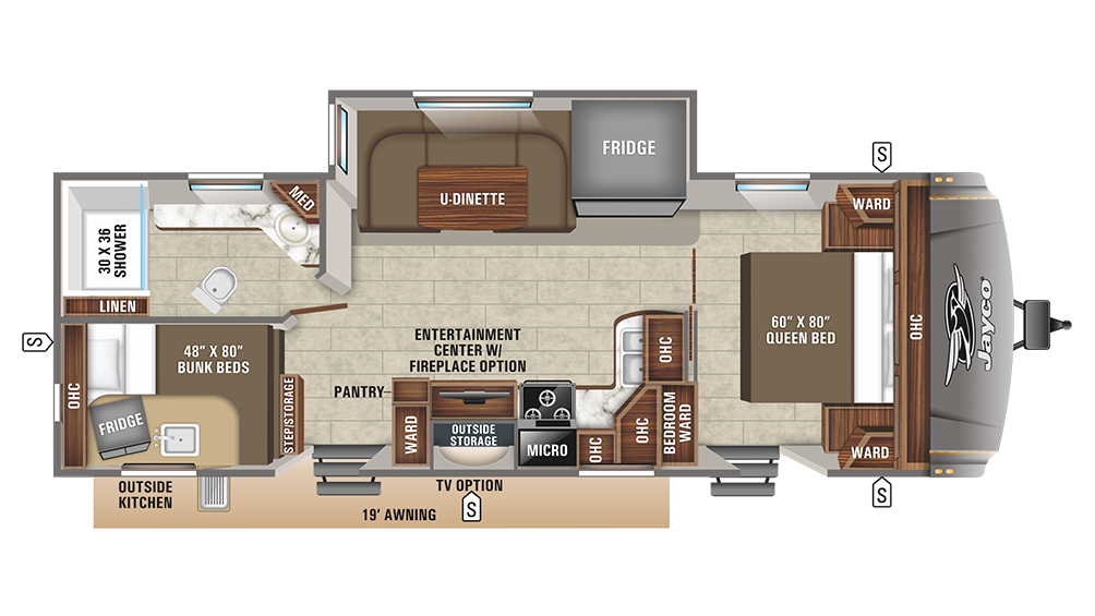 2019 Eagle HT 264BHOK Floor Plan Img