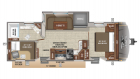 2019 Eagle HT 264BHOK Floor Plan