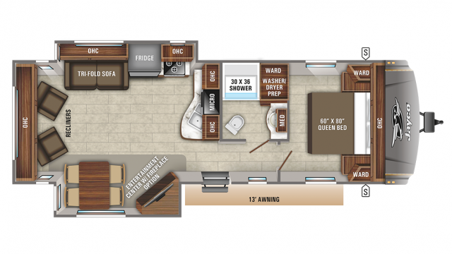 2019 Eagle HT 270RLDS Floor Plan
