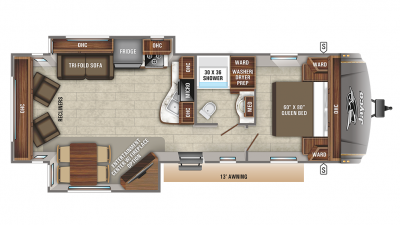 2019 Eagle HT 270RLDS Floor Plan Img