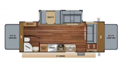 2019 Jay Feather X22N Floor Plan Img