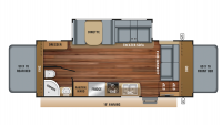 2019 Jay Feather X22N Floor Plan