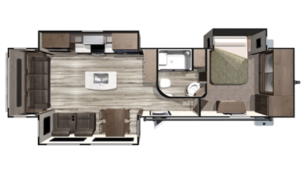 2019 Mesa Ridge MR323RLS Floor Plan Img