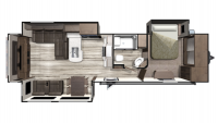 2019 Mesa Ridge MR324RES Floor Plan