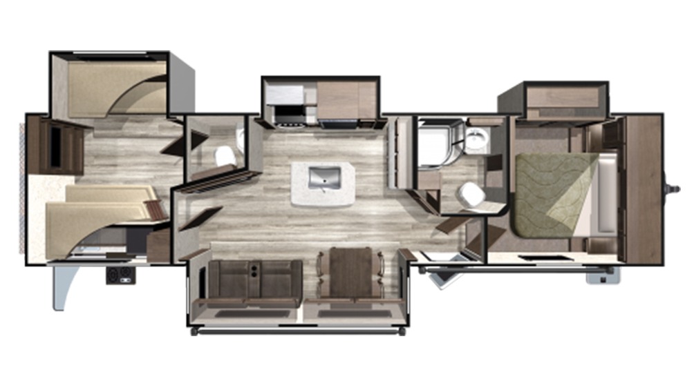 2019 Mesa Ridge MR328BHS Floor Plan Img