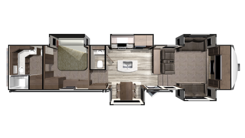 2019 Mesa Ridge MF373RBS Floor Plan Img