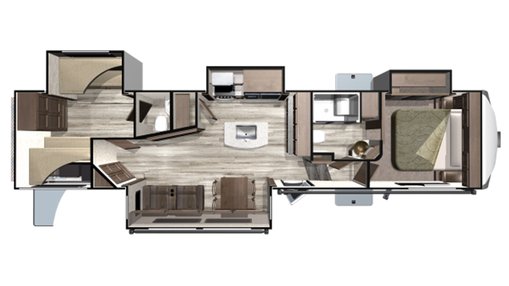 2019 Mesa Ridge MF374BHS Floor Plan Img