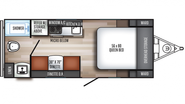 2019 Real-Lite Mini 180 Floor Plan Img