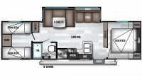 2019 Salem Cruise Lite 282QBXL Floor Plan