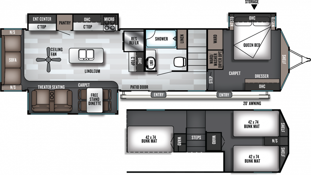 2019 Salem Villa Grand 42DL Floor Plan Img