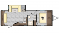2019 Sunset Trail Super Lite 259RL Floor Plan