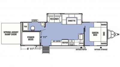 2019 XLR Boost 27QBX Floor Plan Img