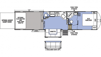 2019 XLR Boost 36DSX13 Floor Plan Img