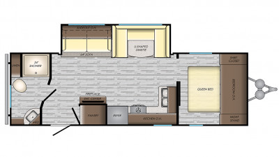 2019 Zinger Lite ZR254RB Floor Plan Img