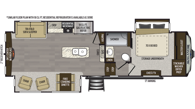 2020 Avalanche 300RE Floor Plan