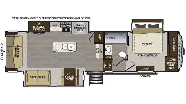 2020 Avalanche 320RS Floor Plan