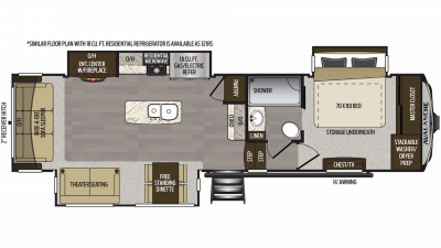 2020 Avalanche 320RS Floor Plan Img