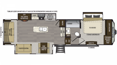 2020 Avalanche 321RS Floor Plan Img
