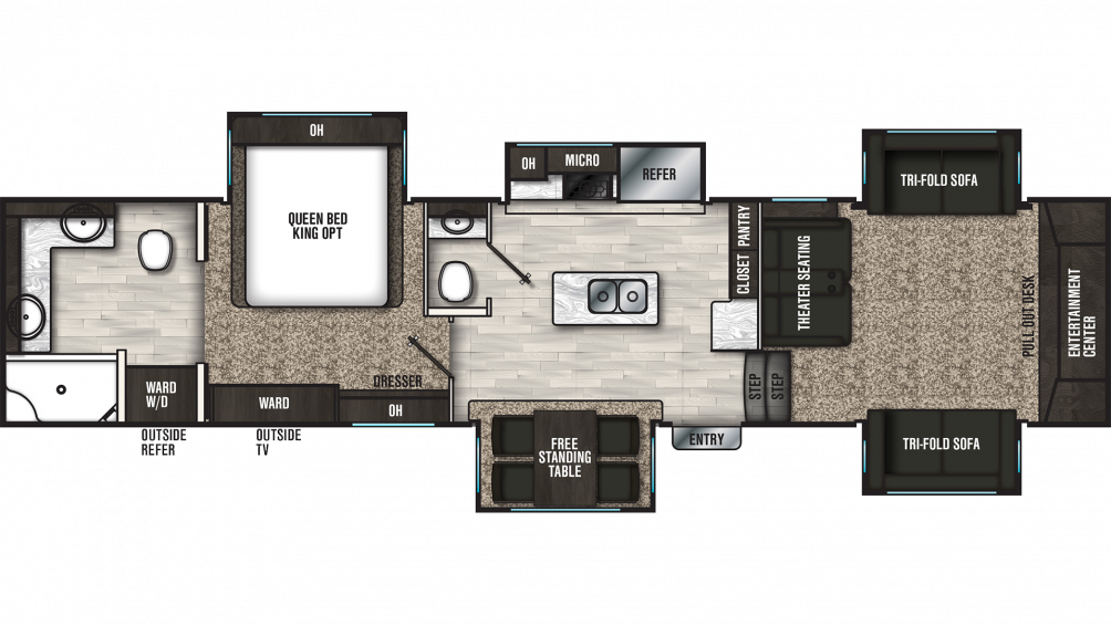 2020 Brookstone 344FL Floor Plan Img