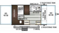 2020 Rockwood ESP 1910ESP Floor Plan