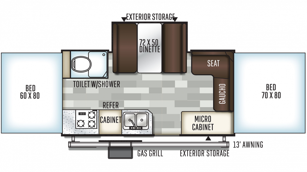 2020 Rockwood High Wall HW276 Floor Plan Img