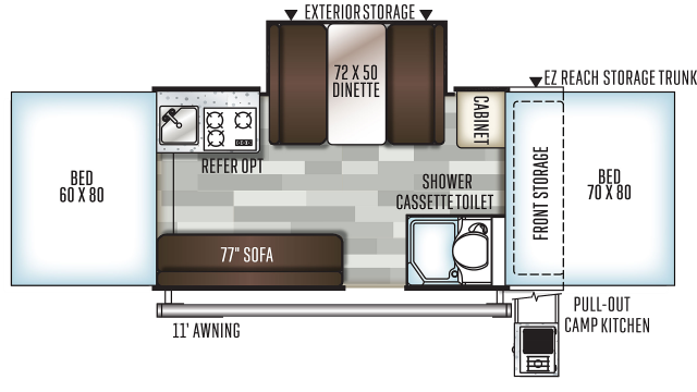 2020 Rockwood Premier 2514G Floor Plan