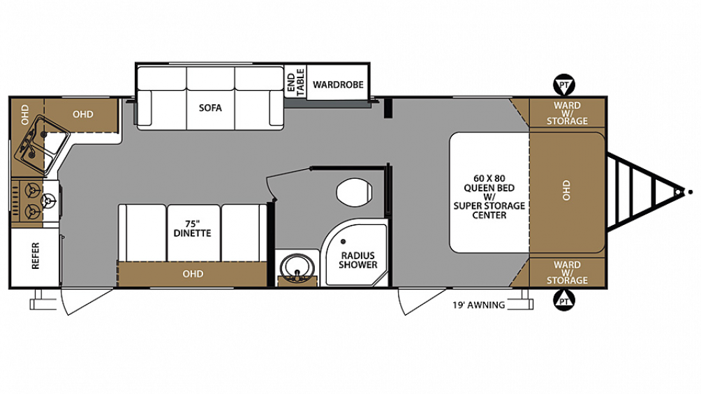 2020 Surveyor Legend 264RKLE Floor Plan Img