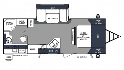 2020 Surveyor Luxury 243RBS Floor Plan Img