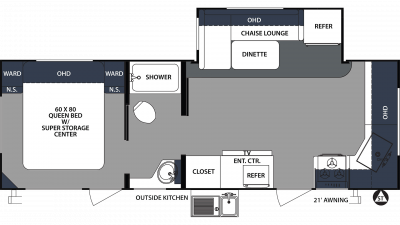 2020 Surveyor Luxury 250FKS Floor Plan Img