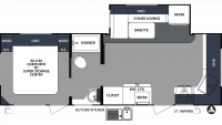 2020 Surveyor Luxury 250FKS Floor Plan