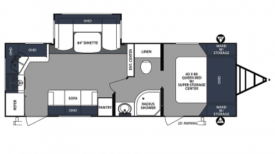 2020 Surveyor Luxury 251RKS Floor Plan Img