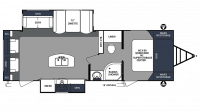 2020 Surveyor Luxury 265RLDS Floor Plan