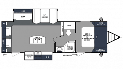 2020 Surveyor Luxury 266RLDS Floor Plan Img