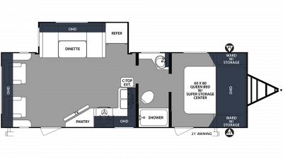 2020 Surveyor Luxury 271RLS Floor Plan Img