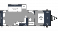 2020 Surveyor Luxury 271RLS Floor Plan