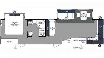 2020 Surveyor Luxury 33KFKDS Floor Plan Img
