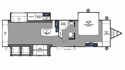 2020 Surveyor Luxury 33KRETS Floor Plan Img