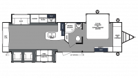 2020 Surveyor Luxury 33KRETS Floor Plan