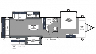 2020 Surveyor Luxury 33KRLOK Floor Plan Img