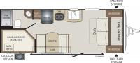 2019 Bullet Crossfire 2200BH Floor Plan