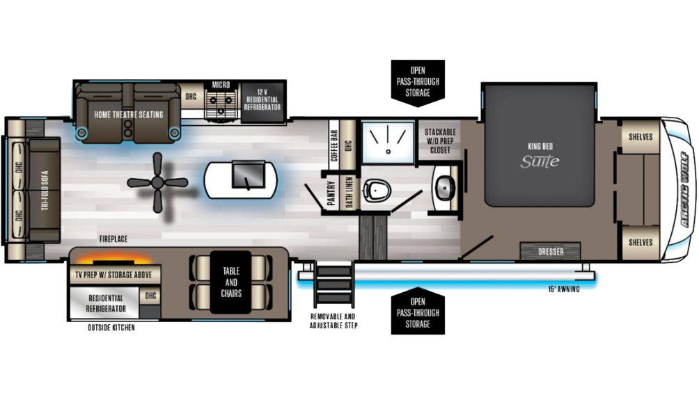 Arctic Wolf Suite 3550 Floor Plan - 2020