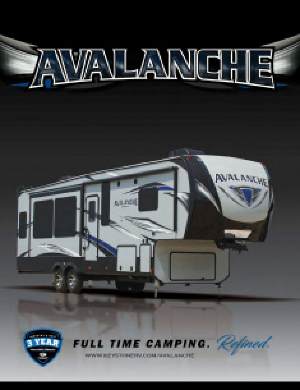 2019 Keystone Avalanche RV Brochure Cover