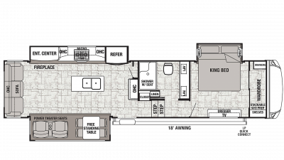 Cedar Creek 34IK Floor Plan - 2020