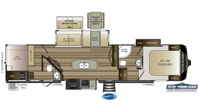Cougar 364BHL Floor Plan - 2020